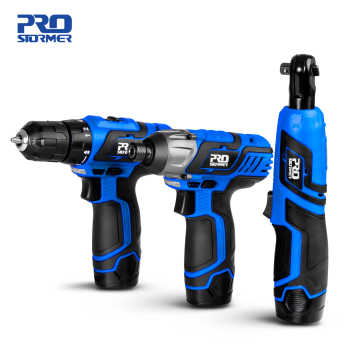12V Cordless Electric Screwdriver Drill Machine Ratchet Wrench Power Tools Electric Hand Drill Universal Battery by PROSTORMER
