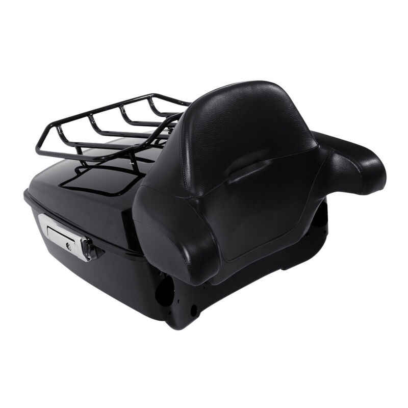 Motorcycle top case King Pack Luggage Backrest For Harley Tour Pak Touring Road King Electra Street Glide 2014-2019 bag trunk
