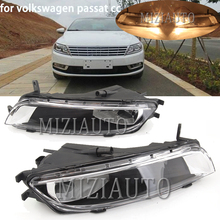 MIZIAUTO 1 PCS For VW Passat CC 2012 2013 2014 2015 2016 2017 Car-Styling Front Halogen Fog Light Fog Lamp With Bulbs 2pcs free shipping for skoda octavia a7 mk3 2013 2014 2015 2016 new pair of front halogen fog lamp fog light with bulb