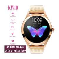 2019 KW10 Smart Watch fashion Women IP68 Waterproof Heart Rate Monitoring Bluetooth For Android IOS Fitness Bracelet Smartwatch