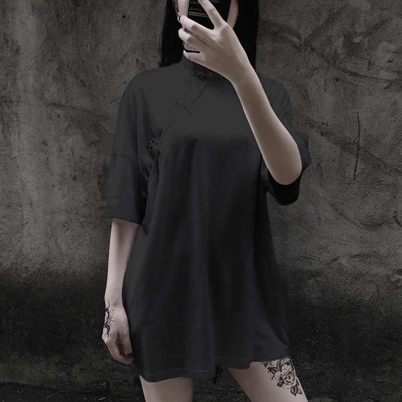LMCAVASUN Nuovo Cinese fibbia Migliorato cheongsam Superiore Femminile di retro stile Cinese Manicotto Allentato Del collare Del Basamento Top