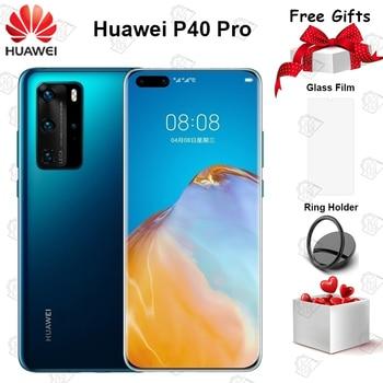 Перейти на Алиэкспресс и купить Новый оригинальный Huawei P40 Pro 5G мобильный телефон 6,58 дюймов 90 Гц экран 8G + 128G Kirin 990 Android 10 50MP Quad камеры 40W смартфон