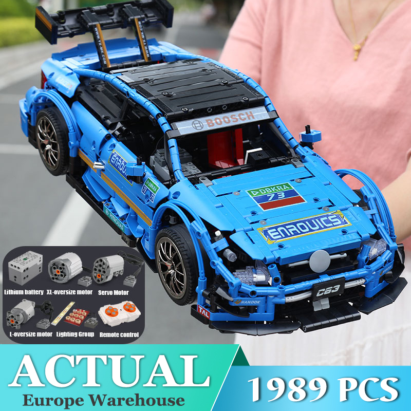 Mould King 1 to 8 ratio city Technic series Mercedes-Benzs AMG C63 Car building blocks Bricks toy Compatible MOC 6687 model Toy image