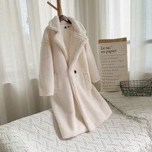 Зимнее пальто Тедди женские шубы из искусственного меха Тедди куртка Медвежонок Толстая Теплая Флисовая Куртка пушистые куртки плюс размер пальто#3