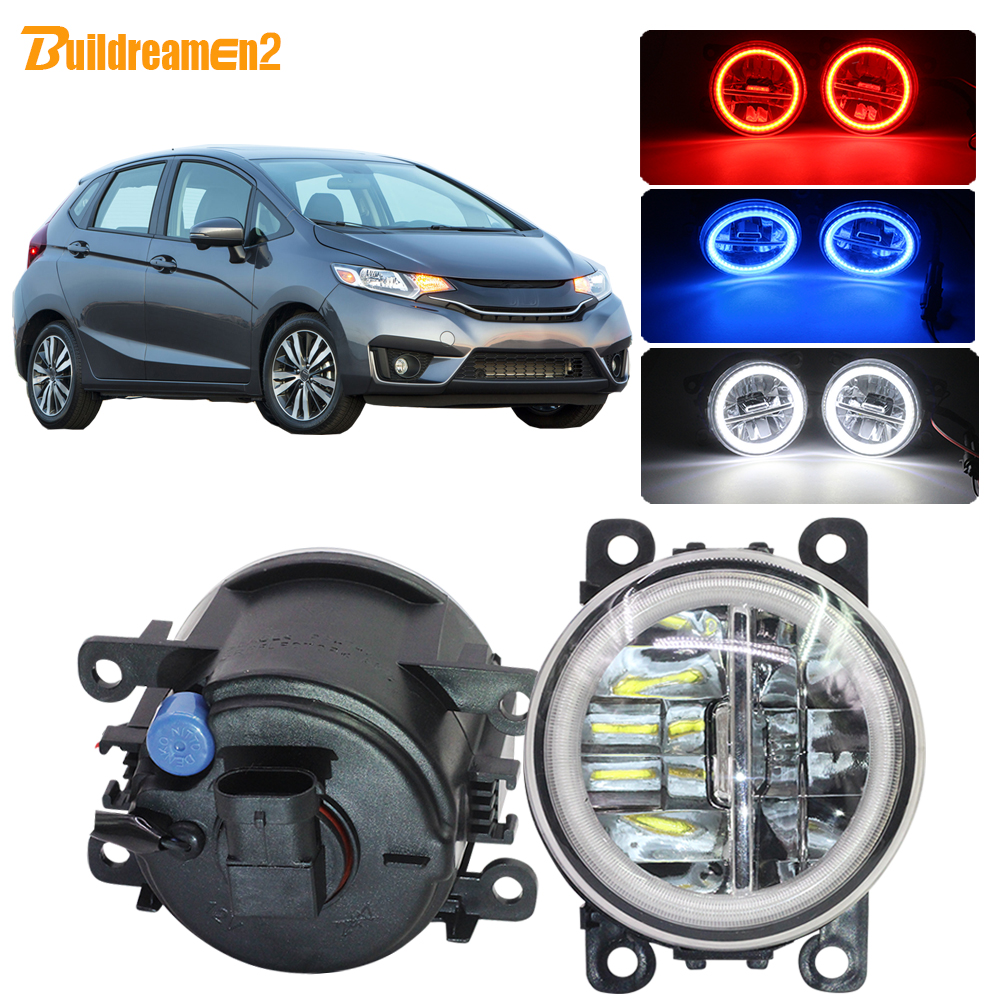 Buildreamen2 Car 4000LM LED Fog Light Assembly H11 Angel Eye DRL Daytime Running Light 12V For <font><b>Honda</b></font> <font><b>Fit</b></font> <font><b>2015</b></font> <font><b>2016</b></font> 2017 2018 image