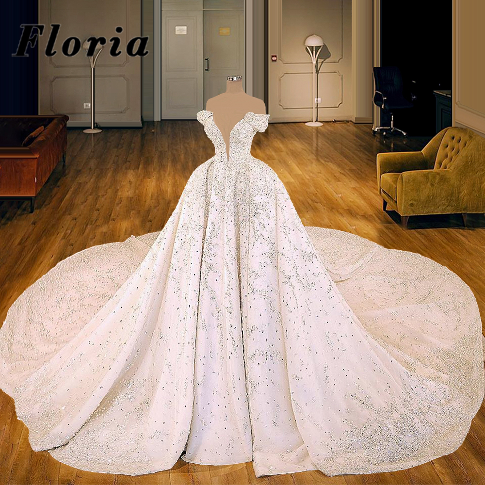 50 Off Luxury Beading Crystal Wedding Bride Dresses Robe De Mariee 2021 Abendkleider Dubai Arabic Ball Gown Bridal Gowns Kaftans Custom Wx7gqiwa3