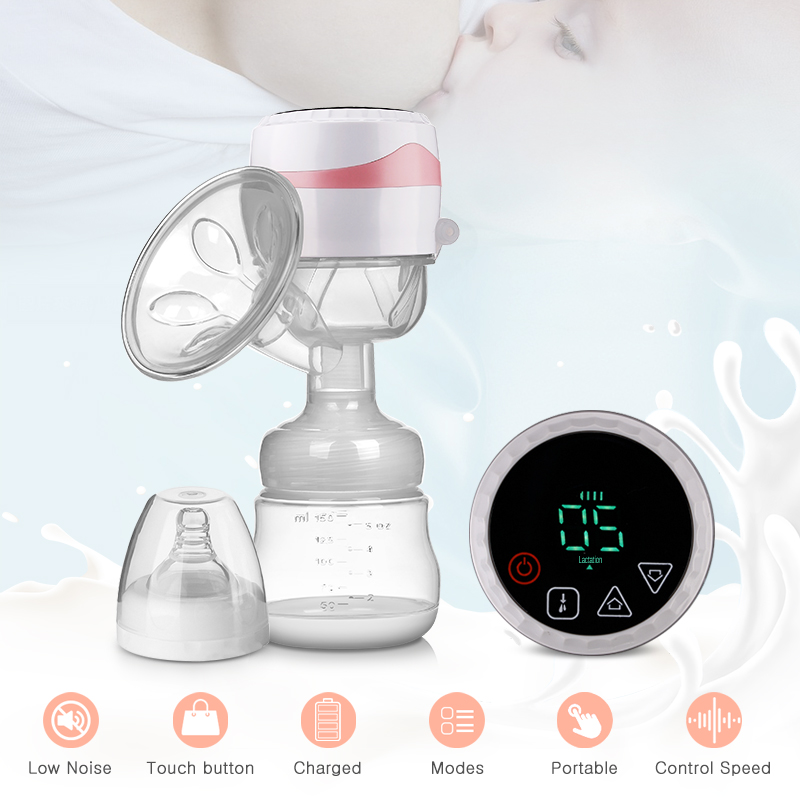 Electric Breast Pump Integrated Portable Easy Convenient Charged Milk Pump Small Volume Postpartum Supplies