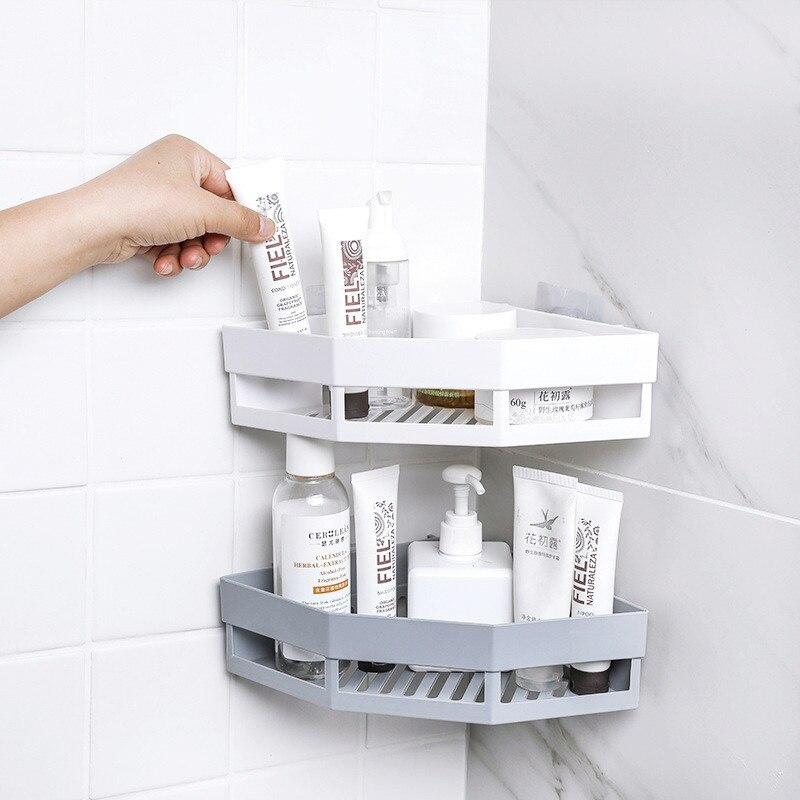 Traceless Triangle Bathroom Shelves Shower Corner Shelf Shampoo Storage Rack Bathroom Basket Holder Organizer Shower Shelf
