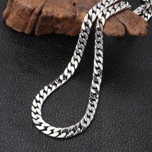 Image 4 - V. Ya 100% 925 Sterling Zilveren Ketting Voor Mannen Thai Zilveren Punk Ketting Voor Vrouwen 8Mm Wideth Zilveren Sieraden 55cm 60Cm