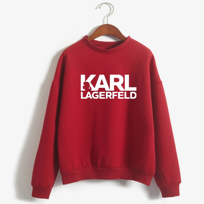 2019 Autumn Winter Fashion Brand KARL LAGERFELD Pullover Streetwear Vogue Karl Who Sweatshirt Women Hooodies