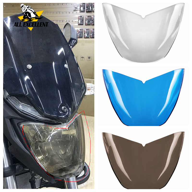 Front Headlight Screen Lens Cover Protector Guard Headlamp Shield For Yamaha MT03 <font><b>MT</b></font> <font><b>03</b></font> 2015 2016 2017 <font><b>2018</b></font> Brown Clear Blue image