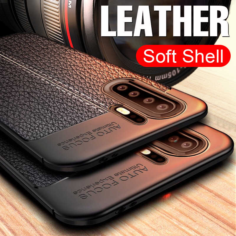 Luxury Leather PU Soft Case On The For Huawei P30 Mate 20 Pro P20 Lite Shockproof Cover For Huawei P30 P20 Silicone Bumper Case