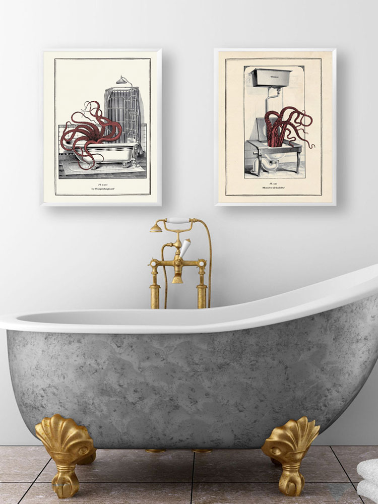 retro toilet decorative bar funny poster toilet decorative painting wall TE