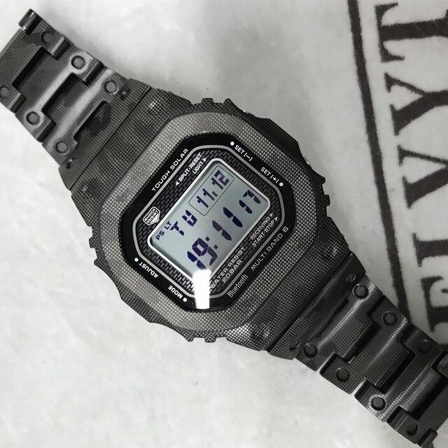 Yüksek kaliteli GMW B5000 titanyum alaşımlı saat kayışı ve çerçeve GMW B5000 Metal kayış bilezik kapak araçları ile 3 renk