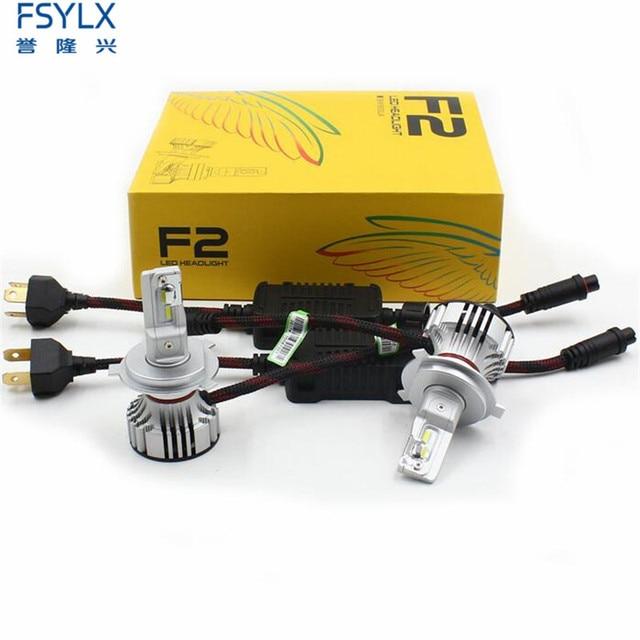 72W 12000LM F2 H4 H7 H8 H11 h13 Car LED Headlights Bulb Fog Light F2 H7 H11 H8 9005 9006 H1 880 Car LED Headlamp Kit