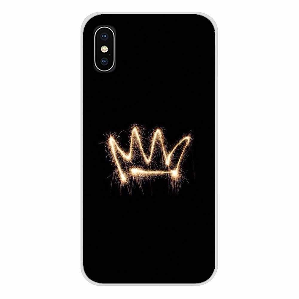 Telefon komórkowy skrzynki pokrywa dla Samsung Galaxy J1 J2 J3 J4 J5 J6 J7 J8 Plus 2018 Prime 2015 2016 2017 księżniczka królowa szefem korona król
