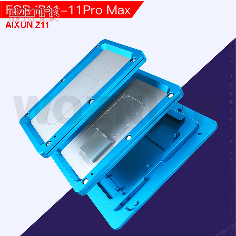 JC AIXUN Z11 Middle Frame Reballing Platform Cell Phone Soldering Fixture For IPhone 11 - 11pro MAX Repair Net Location Fixture