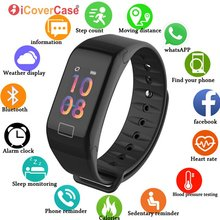 Nadgarstek ciśnienie krwi inteligentny zegarek IP67 wodoodporna opaska na rękę do Samsung Galaxy S10 5G S10e S9 Plus S8 S7 S6 krawędzi uwaga 10 9 8