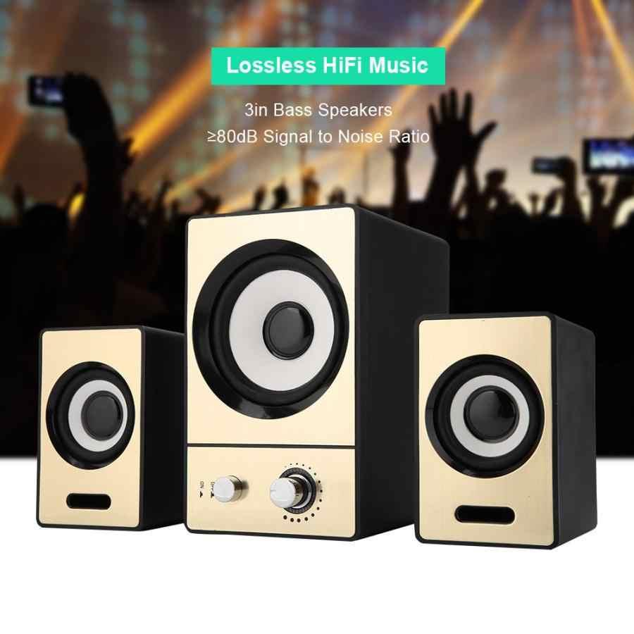 SADA 2.1 Stereo Sekitarnya Komputer Laptop Speaker Jelas PC Speaker dengan Subwoofer Speaker