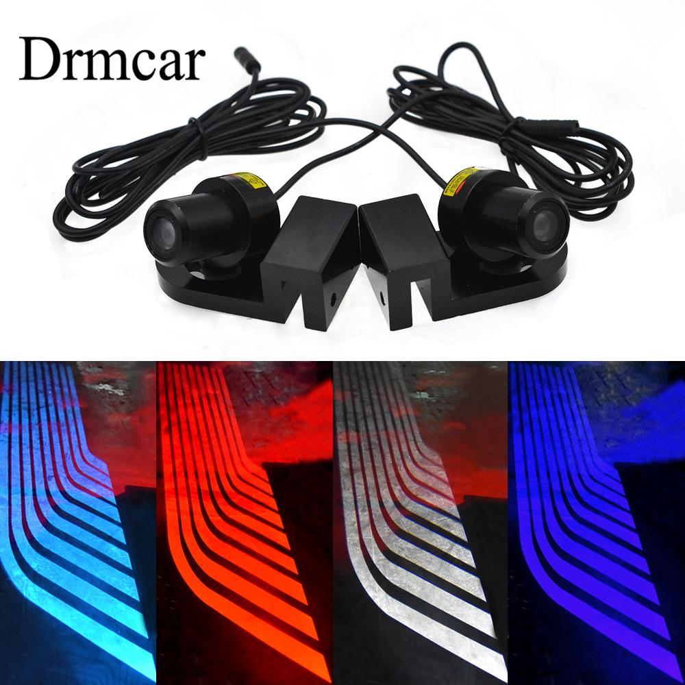 2Pcs Car Angel Wings Welcome Light Shadow Light Car LED Door Warning Light Of Dream For All Vehicles DC 12V 24V
