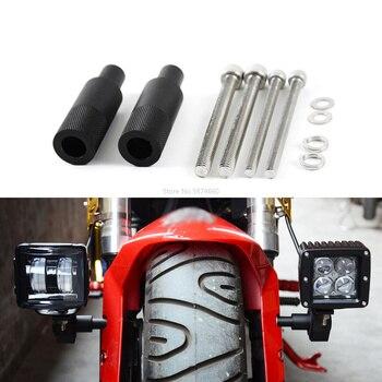 2 uds M8/M6 montaje de motocicleta bicicleta deporte luz trasera soporte de foco LED faro antiniebla soporte de montaje Base de soporte de poste