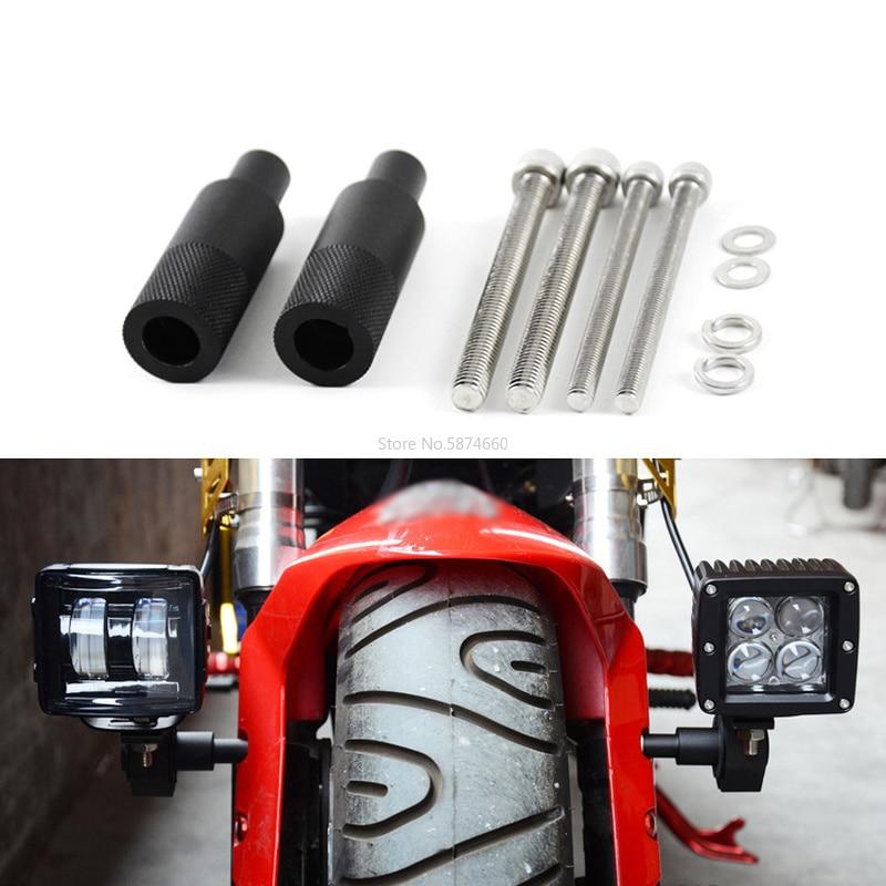2 pièces M8/M6 moto montage vélo Sport feu arrière projecteur Support phare LED antibrouillard Support de montage Support de poteau