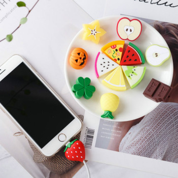 NEW Cute Fruit Phone USB cable protector for iphone cable chompers cord animal bite charger wire holder organizer protection orico pb3218 cable cord organizer box for surge protection