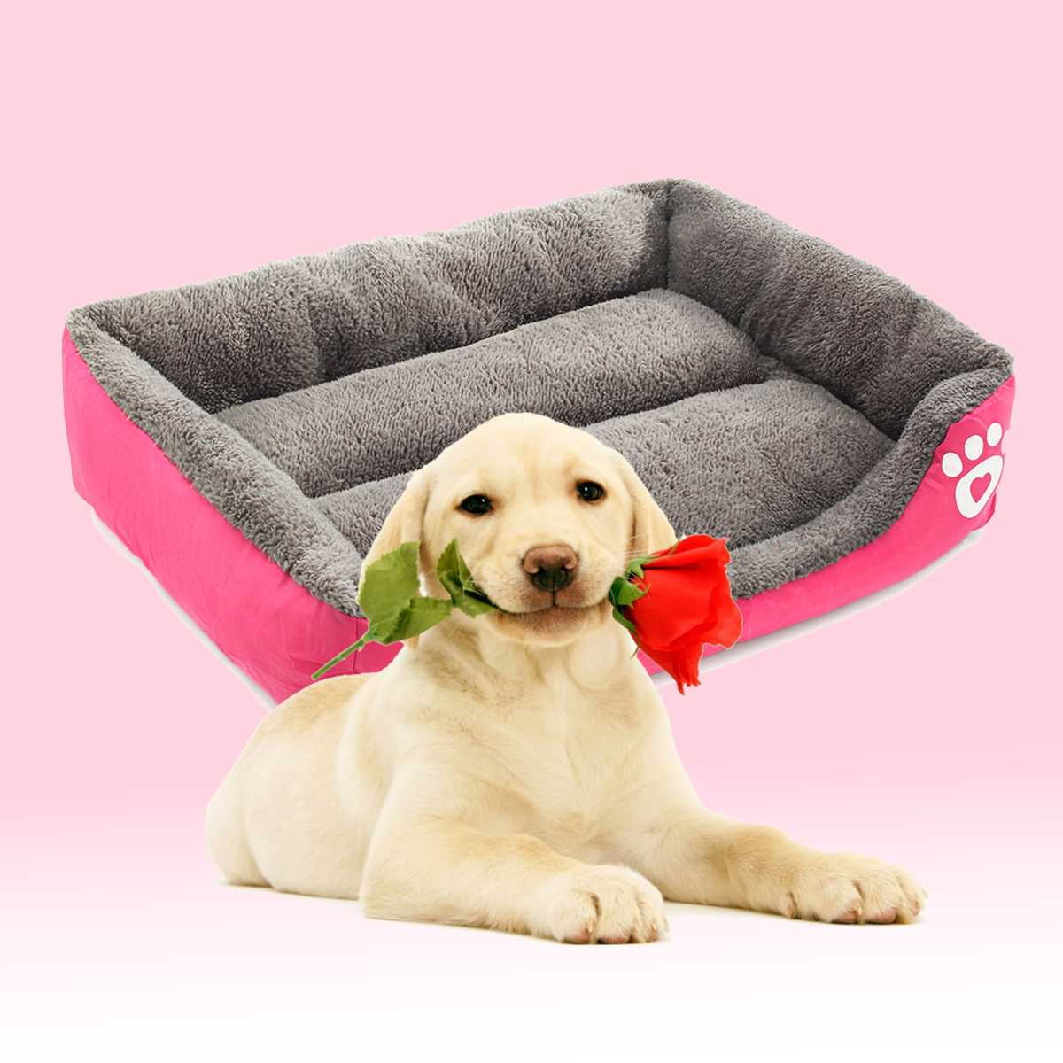 New Dog Bed Mat Kennel Soft Dog Puppy Pet Supplies Nest For Small Medium Dogs Winter Warm Plush Bed House Waterproof Cloth