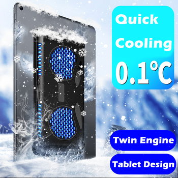 Dual Module Tablet Cooler Pad High Power Cooling Fan 10 inch Semiconductor Radiator For Mobile Phone Ipad Tablet Cooling Pad