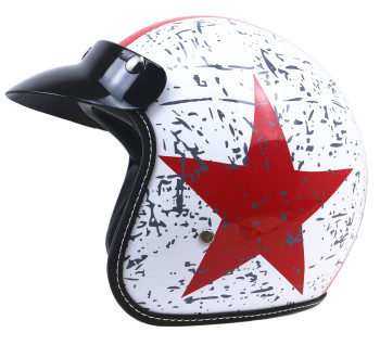 Retro ABS Material Open Face 3/4  Helmets Vintage Sun Visor Motorbike Helmets Casque Moto Scooter Protection for Men free shipping motorcycle helmets retro vintage open face helmets design modular removable visor motorbike jet vintage helmet sy