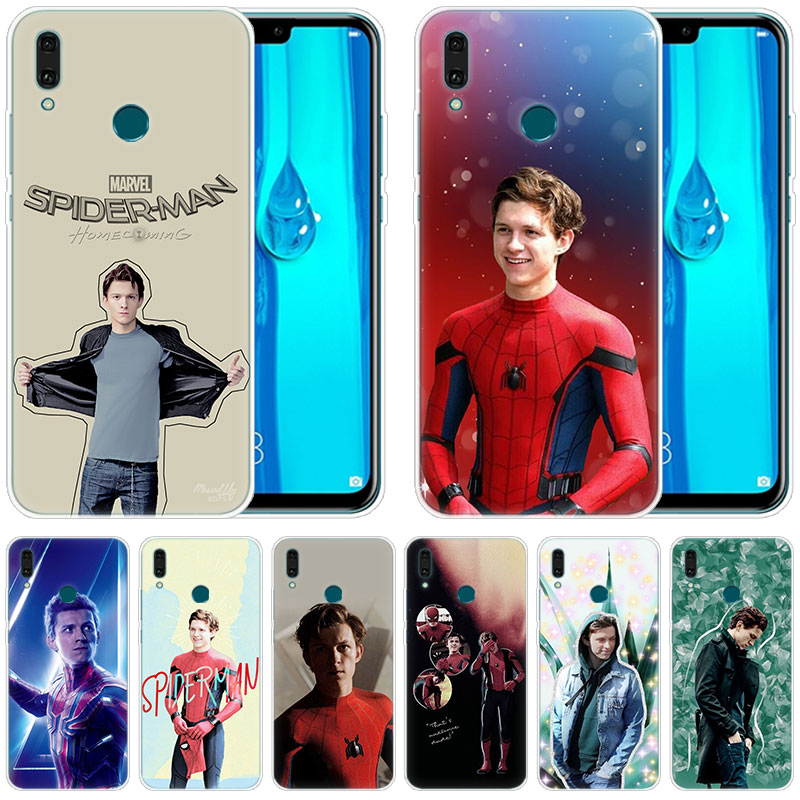 Silicone <font><b>Case</b></font> <font><b>Marvel</b></font> Spiderman Tom Holland for <font><b>Huawei</b></font> Mate 30 20 Lite 10 Pro Y5 Y6 <font><b>Y7</b></font> Pro <font><b>2019</b></font> Y9 Prime <font><b>2019</b></font> 2018 Y6 Pro 2017 image