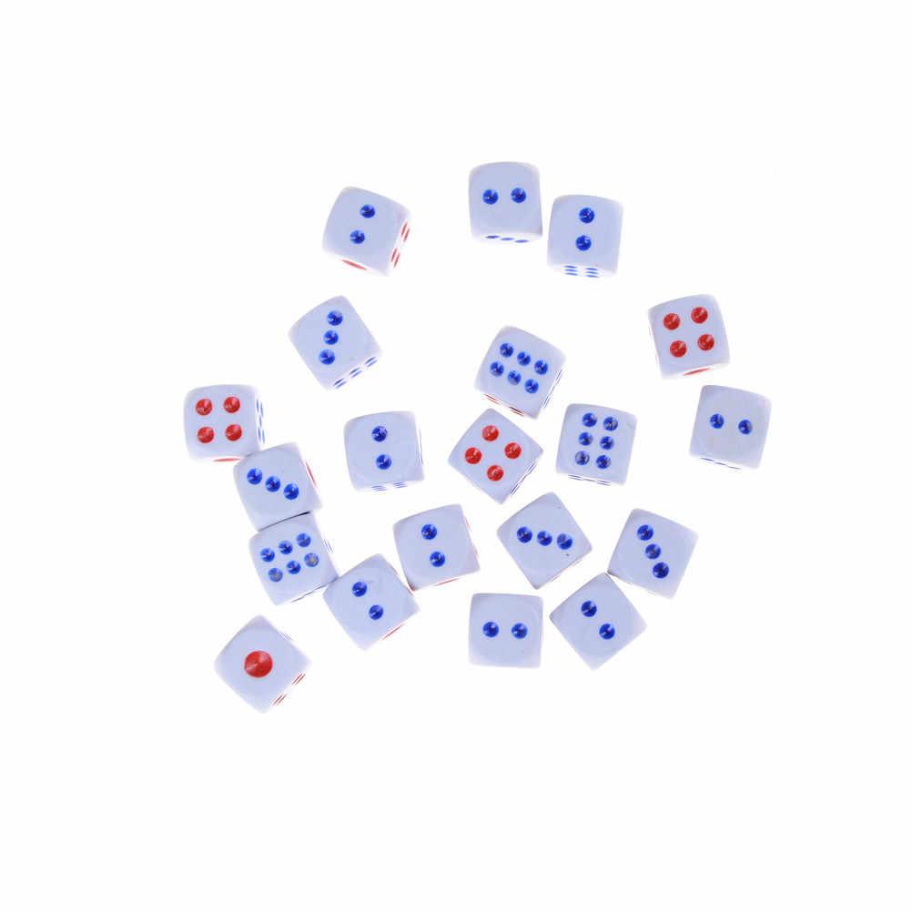 20 قطعة/المجموعة 12 مللي متر الاكريليك الخدع 6 الوجهين النرد لعبة لعبة للحزب المرح الكبار الجدة هدية ألعاب ترفيهية