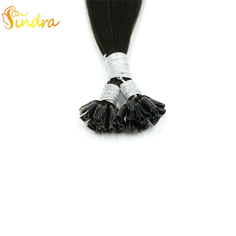 Sindra Human Hair Extensions U Nail Tip Real Remy Link Hair 14