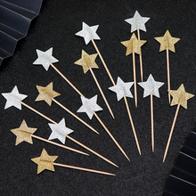 Cakelove  24pcs stars cake topper cupcake birthday decoration party for baking accessories decorating tools anniversary