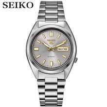 Seiko שעון גברים 5 אוטומטי שעון למעלה מותג יוקרה ספורט גברים שעון סט עמיד למים מכאני צבאי שעון relogio masculinoSNX