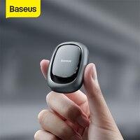 Baseus-Mini gancho adhesivo para coche, soporte de ventosa para vehículo, organizador de Cable USB, almacenamiento de llaves y auriculares, colgador de pared para coche, 2 uds.