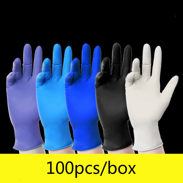$ US $17.99 Disposable Gloves Latex Rubber Food Catering Grade Baking Beauty Experiment Labor Insurance Thick Film Gloves Dish Brush Glives