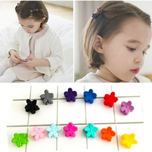 20PCS/Lot Cute Colorful Hair Clips for girls Lovely Cherry blossoms small hair claws girl kids accessories