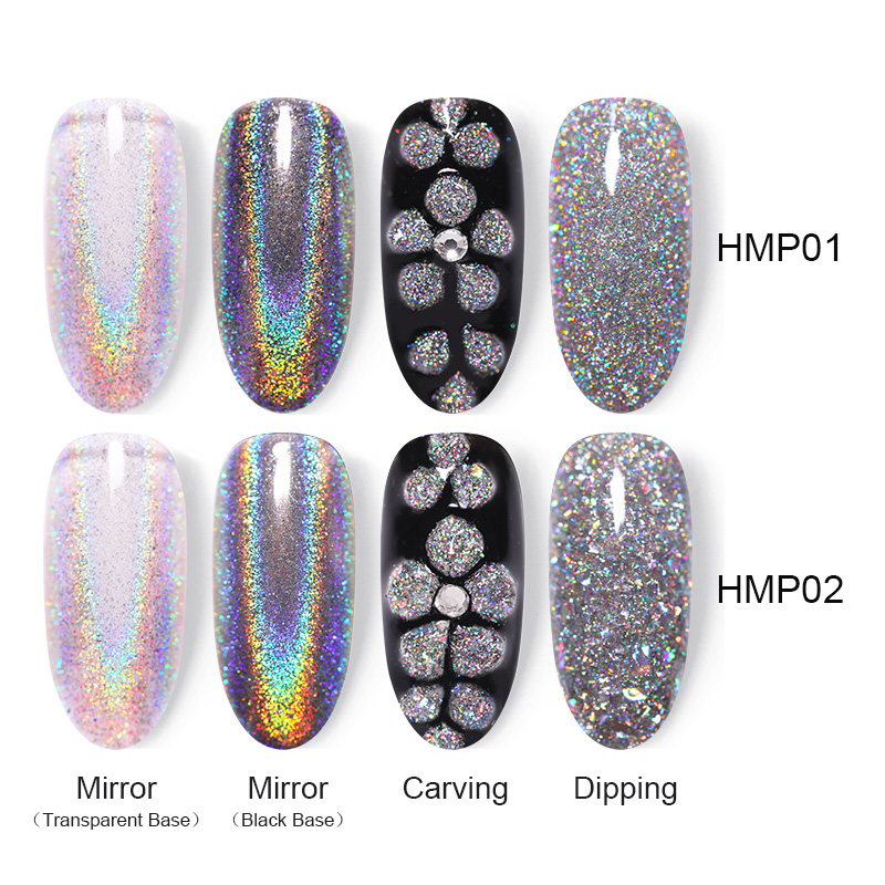 Image 5 - BORN PRETTY Holographic Mirror Dipping 4 IN 1 Nail Powder 10ml Acrylic Carving Extension Polymer Nail Powder Glitter Decoration-in Nail Glitter from Beauty & Health