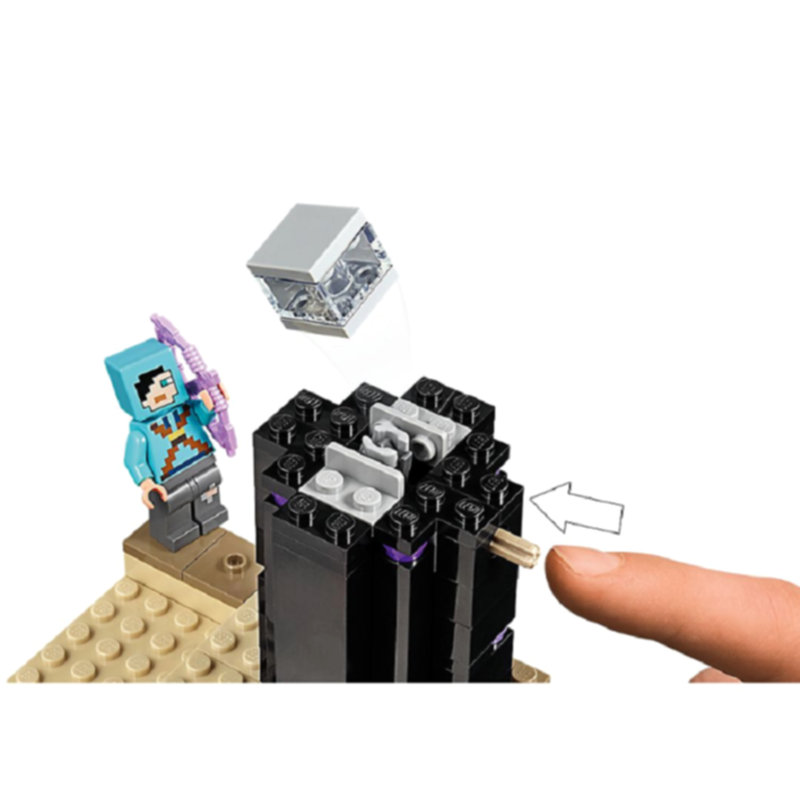 The End Battle Shadow Dragon Building Blocks With Steve Action Figures Compatible LegoINGlys MinecraftINGlys Sets Toys 21151 3