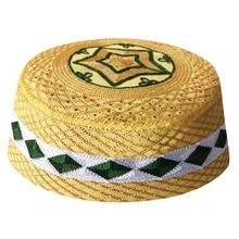 Árabede los hombres, islámico oración sombreros Topi africano Kippah cabeza Caps musulmán India sombrero judía Yellow Alah Musulman nuevo Hombre gorra Boina