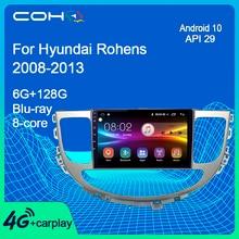 Para hyundai rohens genesis 2008 2013 reprodutor multimídia gps navegação carro áudio rádio ips autoradio android 10 6 + 128g