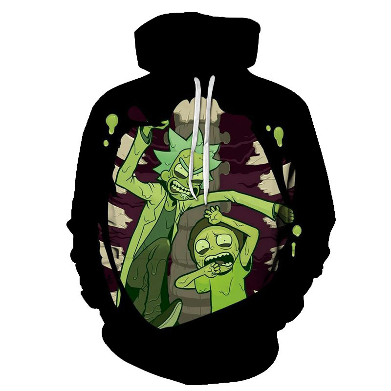 Rick And Morty Hoodies 3D Unisexe Sweat Hoodies Marque A Capuche Comique Casual De Mode A Capuchon Pull Drop Ship Streetwear