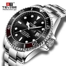 Hot Verkoop 2020New Tevise Quartz Heren Horloge Automatische Datum Fashion Luxe Sport Horloges Rvs Klok Relogio Masculino