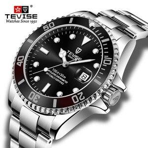 Image 1 - Hot Verkoop 2020New Tevise Quartz Heren Horloge Automatische Datum Fashion Luxe Sport Horloges Rvs Klok Relogio Masculino