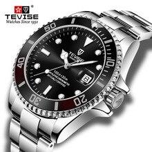 Venda quente 2020new tevise relógio de quartzo masculino data automática moda luxo esporte relógios aço inoxidável relógio relogio masculino