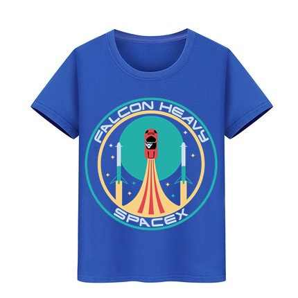 Erkek kız Tshirt Elon misk ağır falcon tees çocuk starman araba T Shirt çocuk T-shirt SpaceX roket Tesla Roadster T Shirt
