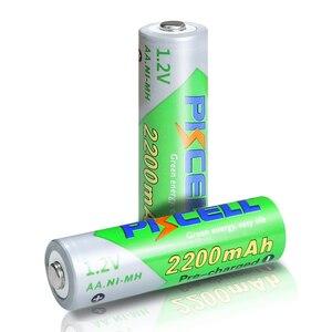 Image 4 - 8 個のx pkcell aa低自己放電バッテリーニッケル水素 1.2 v 2200 バッテリー単三充電式バッテリー 2 個バッテリー保持ケースボックス