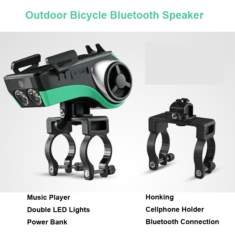 6 In 1 Riding Equipment Bike A127 Bicycle Stopwatch Subwoofer Bluetooth MP3 Playing Speaker Power Bank Lighting Audio Honking
