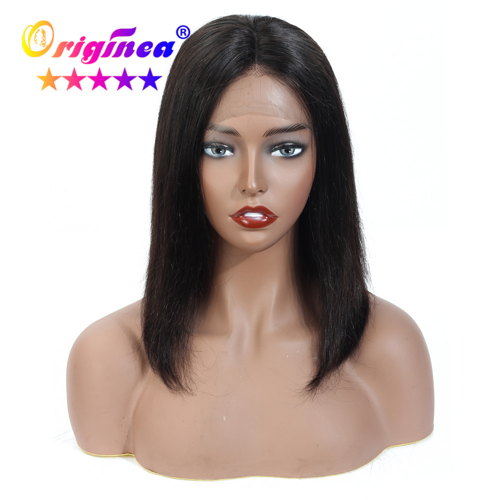 13x4 Lace Front Human Hair Wigs For Woman Ear To Ear Lace Wig With Baby Hair Brazilian Remy Straight Hair Short Bob Wig 8-14Inch